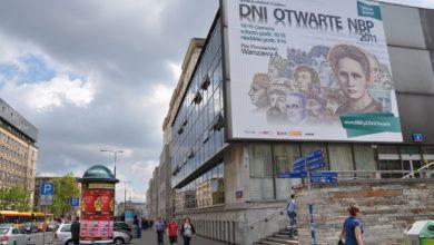 Billboard w centrum Warszawy