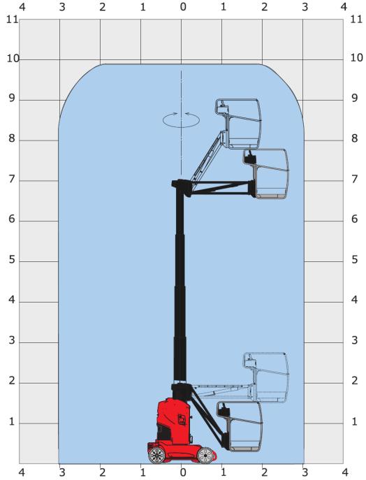 Podnosnik-nozycowy-MANITOU 100 VJR-szkic